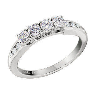 Jabel DC4443W 18K White Gold  Channel Set Diamond Wedding Band  .56 ct. t.w. Diamonds size 6.5 by Jabel