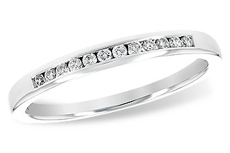 Allison Kaufman 14k White Gold Channel set band with .12tw Diamonds WR828 1/8 by Allison Kaufman