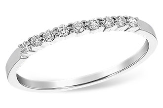 Allison Kaufman 14k White Gold Prong set band with .12tw Diamonds WR830-1/8 by Allison Kaufman