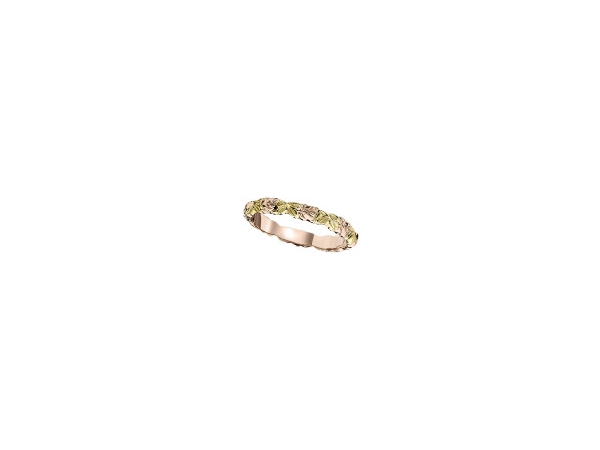 Jabel  14K Yellow & Rose Gold  Engraved Band Ring Size 6.5 by Jabel