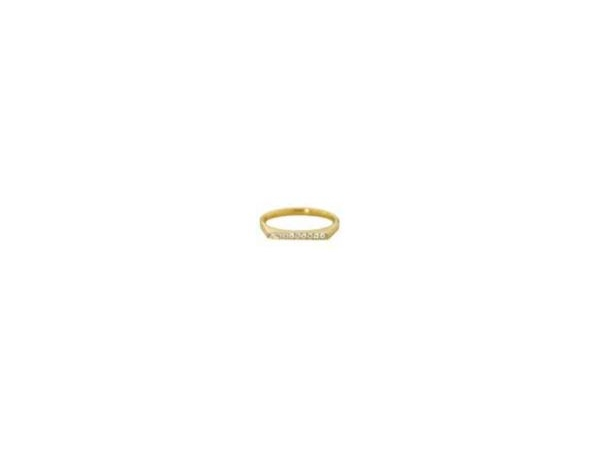 The Touch 14k yellow gold stackable .06tw rd Diamond stackable ring size 6.5 by The Touch