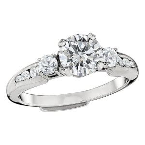 Jabel  4443WGU4 18 Karat White Gold Channel Set Diamond Engagement Ring 18kt. White Gold .34 ct. t.w. price does not include cen by Jabel