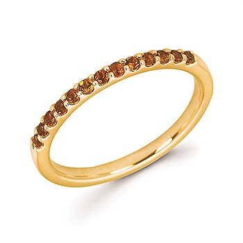 14k Yellow Gold Citrine Band Ring by Ostbye