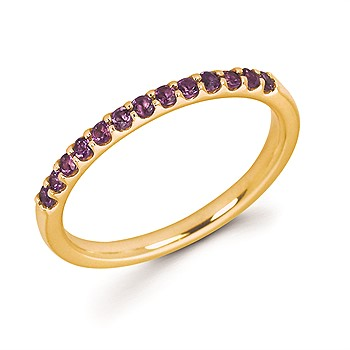 14K Yellow Gold Amethyst Band Ring by Ostbye