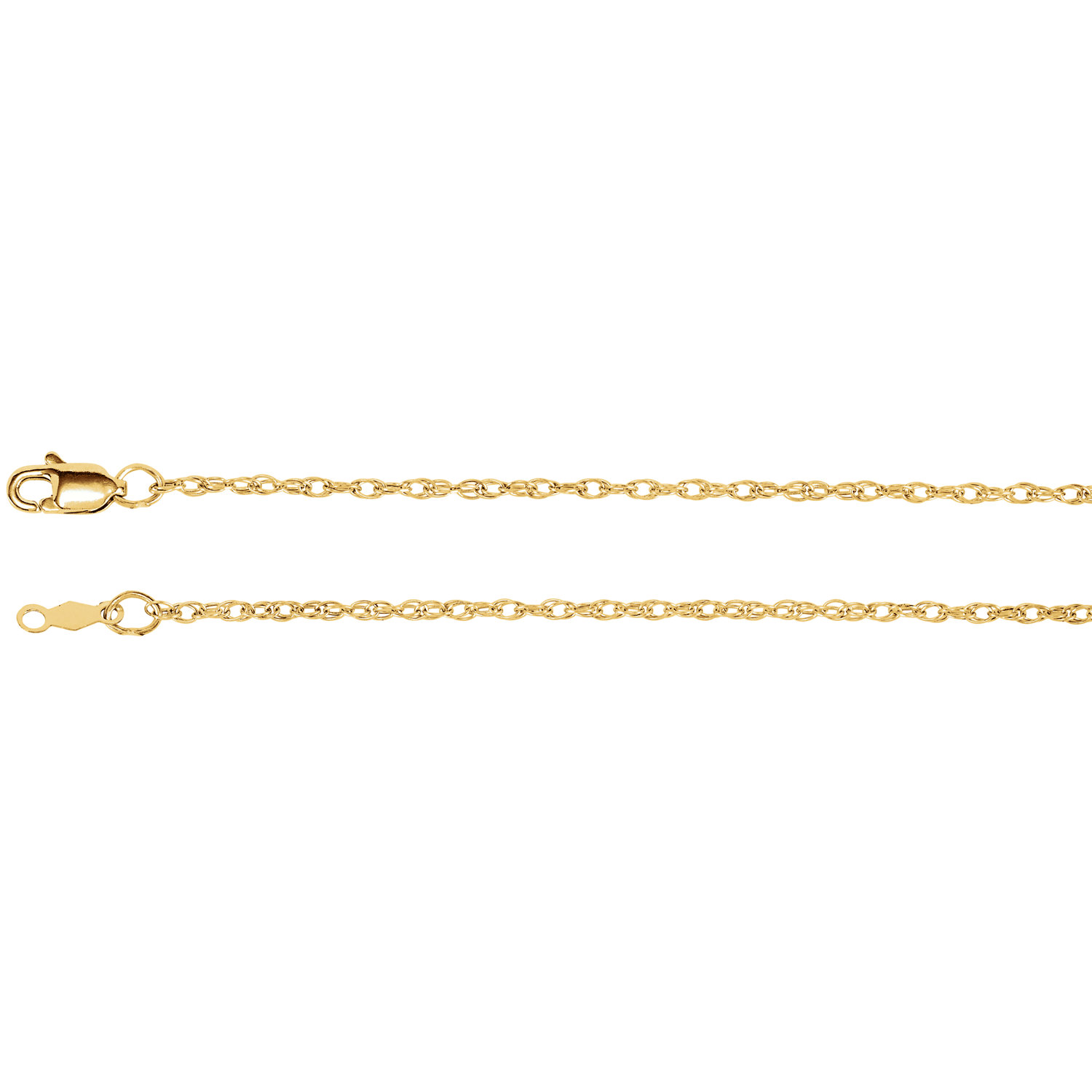 "16"" 14K Yellow Gold Rope Pendant Chain by Stuller"