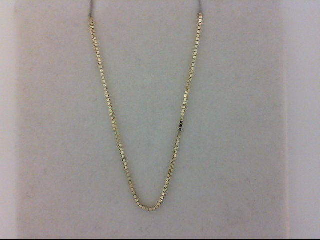 Yellow 14 Box Chain Length 16 by Stuller