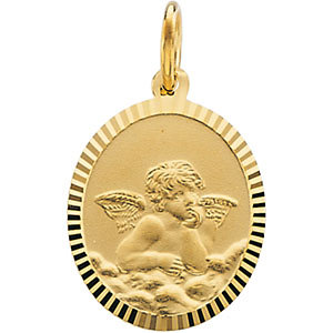 14Kt. Yellow Gold Angel Charm by Stuller