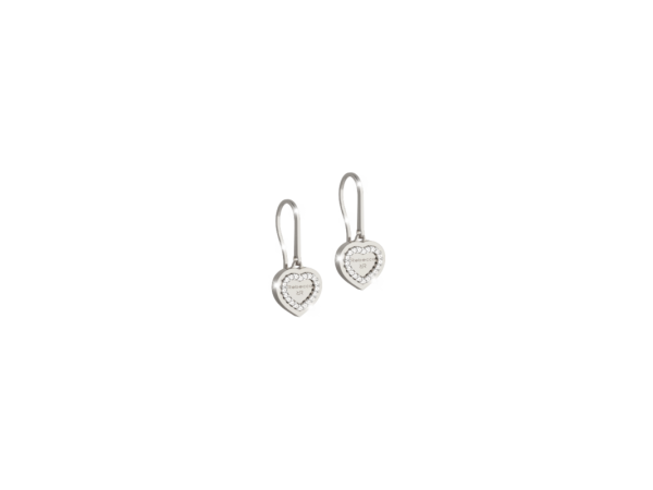 Rebecca Bronze with Rhodium Plated White with CZ Earrings by Rebecca