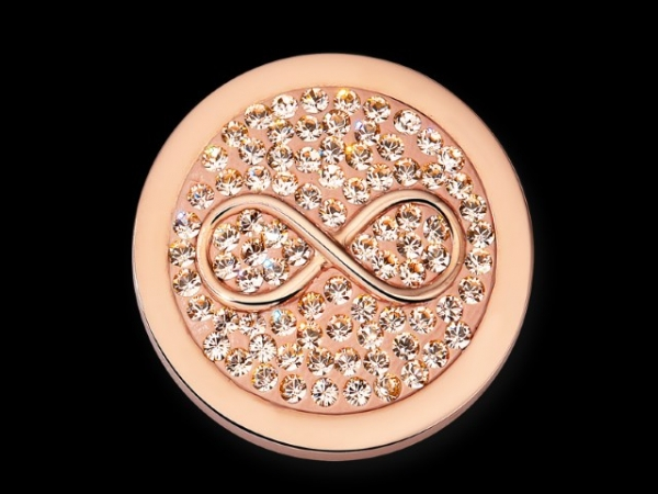 MiMoneda Infinitio Vintage Rose Diamond Disc Stainless Steel Small by Mi Moneda