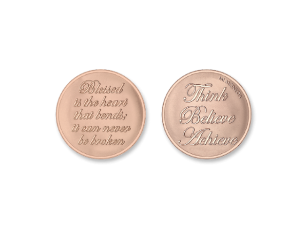 MiMoneda Blessed-Believe Rosegold Plated Small by Mi Moneda