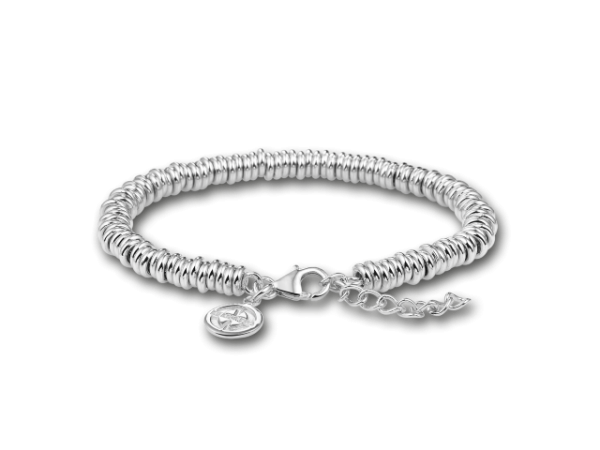 "MiMoneda Sterling Silver Elegante Bracelet adjustable from 7"" to 8"" by Mi Moneda"