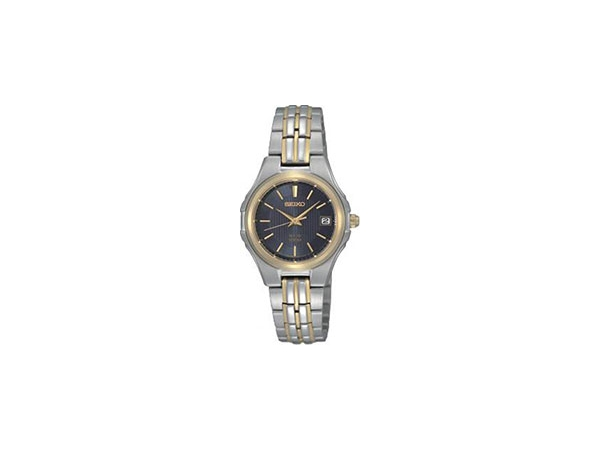 Seiko Solar Watch stainless steel bracelet with deployment clasp by Seiko