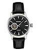 Seiko Stainless Steel Automatic Black Leather Strap with  24 Jewels Water Resistant to 50M by Seiko