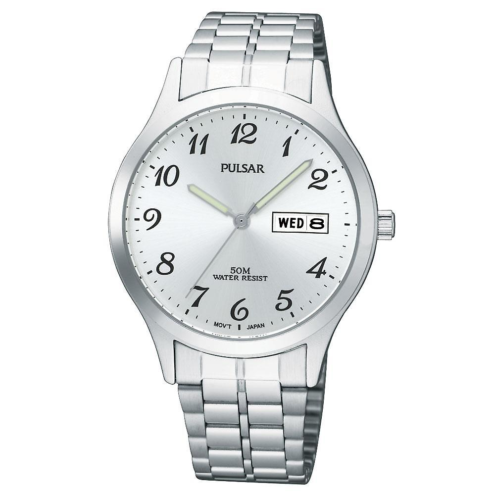 Pulsar Quartz Movement Bracelet Band with Deployment Buckle by Pulsar