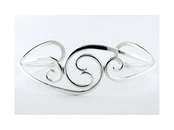 Tom Kruskal Sterling Silver Scrollwork Cuff by Tom Kruskal