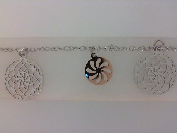 "7"" Sterling Silver & Rose Gold Plated Dangle Bracelet by Nomination"