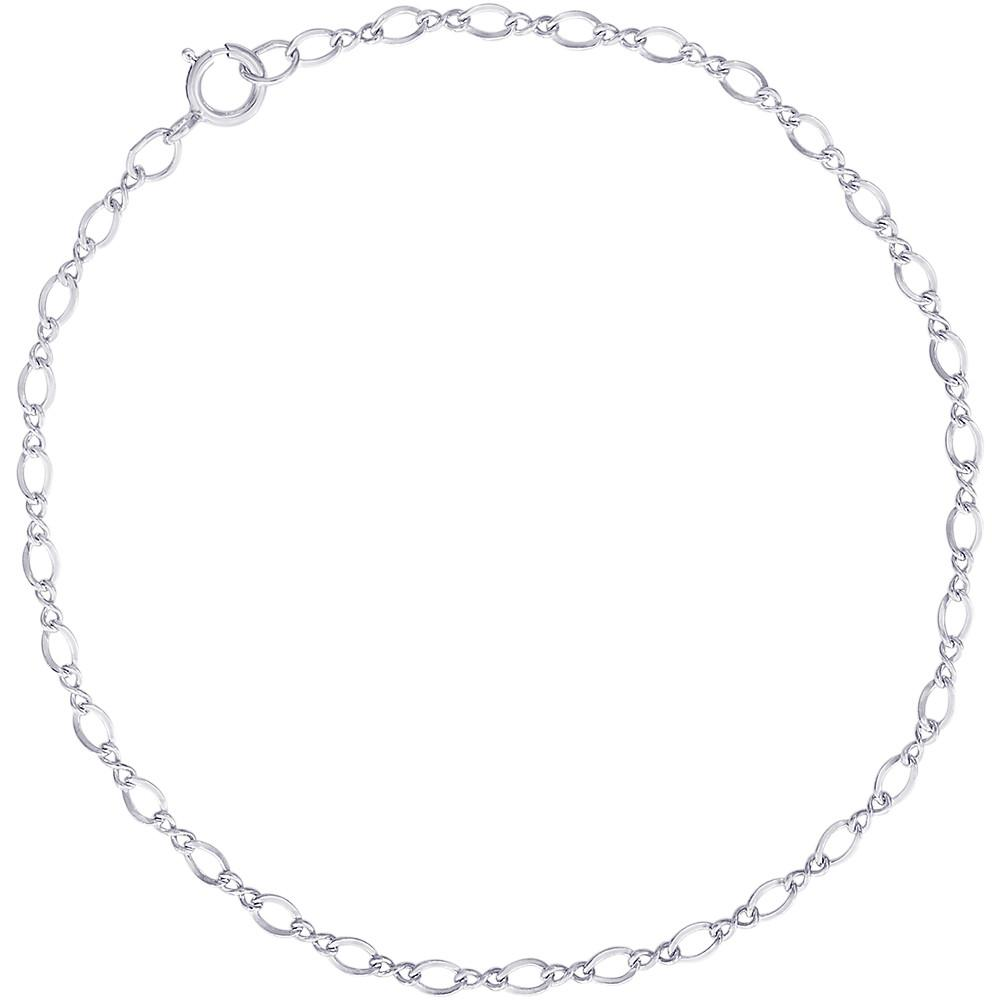 "7"" Sterling Silver Charm Link Bracelet by Rembrandt Charms"