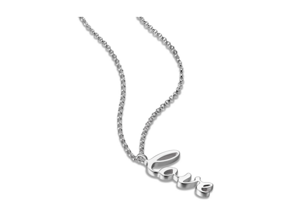 "Elle Sterling Silver Anchor Link necklaces 18"" with 2"" extention with Love by Elle Jewelry"