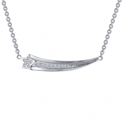 "LaFonn Sterling Silver 18"" Shooting Star with Simulated Diamonds Necklace by Lafonn Jewelry"