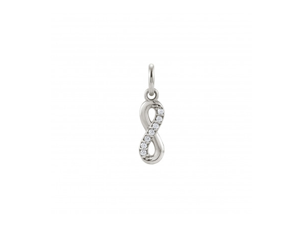 Sterling Silver Swarovski Infinity Charm by Nomination