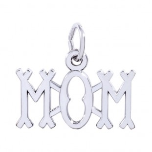 Sterling Silver Mom Charm by Rembrandt Charms