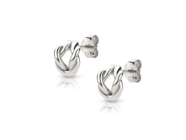 Sterling Silver Sailors Knot Earrings by Nomination