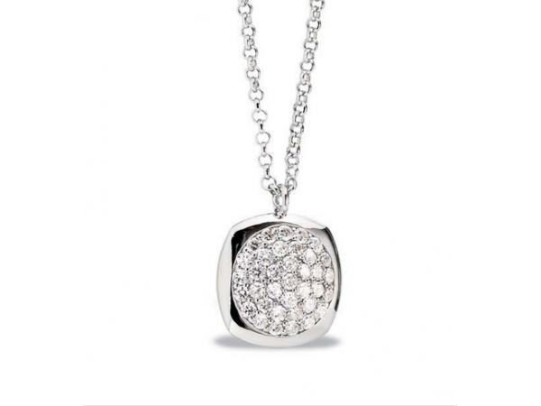 Elle Sterling Silver Drop Pendants with CZ
