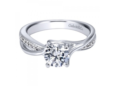 Gabriel&Co  with Side Diamonds Totaling .16CT TDW